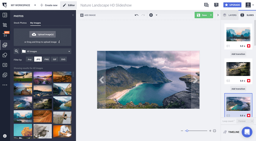 Instagram Video Creator - Bannersnack Slideshow Maker