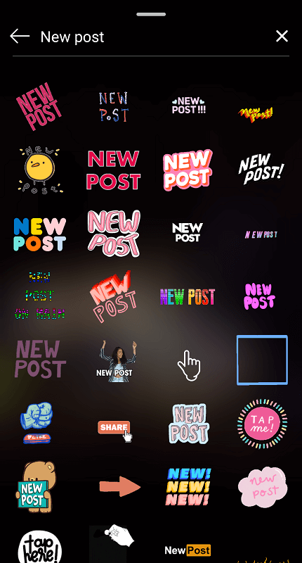 Instagram CTA stickers